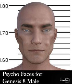 Psycho Faces for Genesis 8 Male