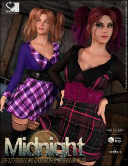 Dark Schoolgirl Dress Midnight Textures