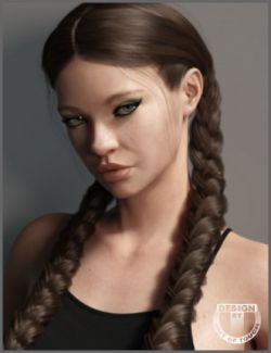Marigold Hair for Genesis 3 and Genesis 8 Female(s)