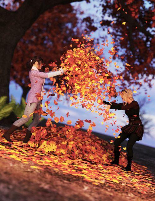 Autumnal Fun Poses for Genesis 8 Female
