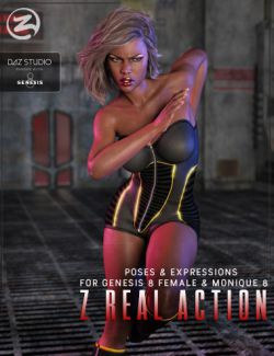 Z Real Action- Poses and Expressions for Genesis 8 Female
