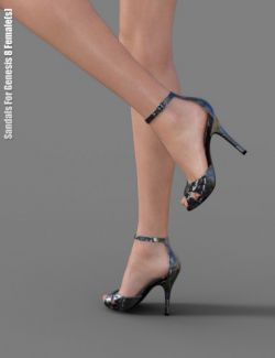 Sandals for Genesis 8 Female(s)