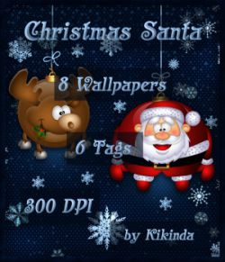 CHRISTMAS SANTA Wallpapers and Tags