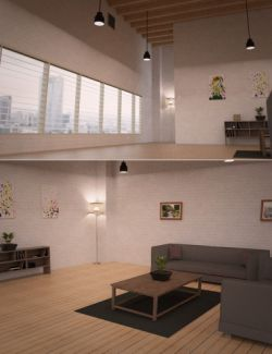 Loft Interior Living Room