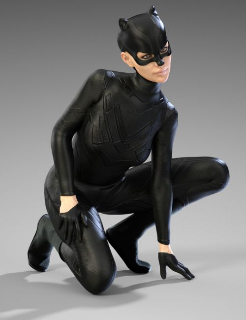 X-Fashion Dark Cat Outfit for Genesis 8 Female(s)
