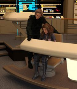 Starship Bridge XT 2 Poses - G3  - for DAZ Studio