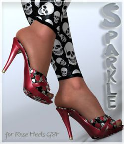 Sparkle Rose Heels and Pantyhose G8F