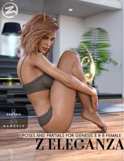 Z Eleganza- Poses and Partials for Genesis 3 & 8 Female