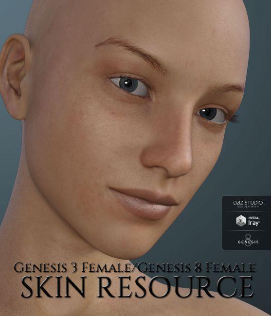 Genesis 3 Female and Genesis 8 Female Skin Resource
