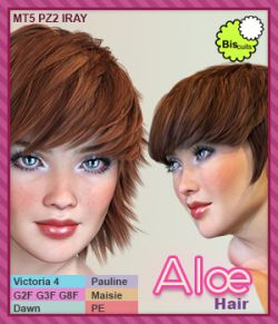 Biscuits Aloe Hair for DS and Poser