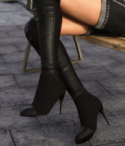 Knee High Leather Boots for G8F