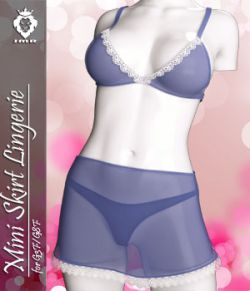 JMR Mini Skirt Lingerie for G3F and G8F