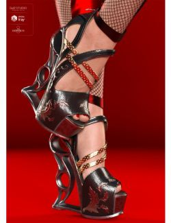 VXZ3 Heels for Genesis 8 Female(s)