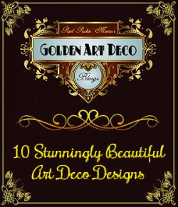 Pixel Packin Mamas Art Deco Golden Blings Set 1
