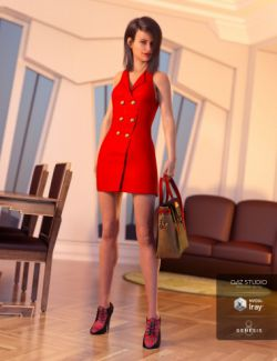 Blazer Dress with Tote Bag for Genesis 8 Female(s)