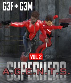 SuperHero Agents for G3F and G3M Volume 2