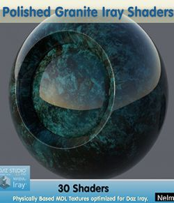30 Polished Granite Iray Shaders- Merchant Resource