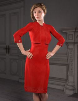 dForce Little Red Dress for Genesis 8 Female(s)