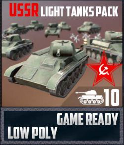 USSR Toon Light Tanks Pack - Extended License
