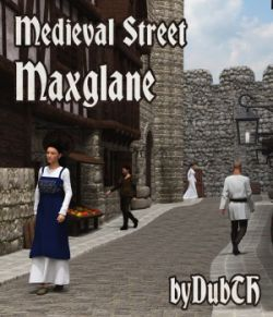 Medieval Street Maxglane for Iray
