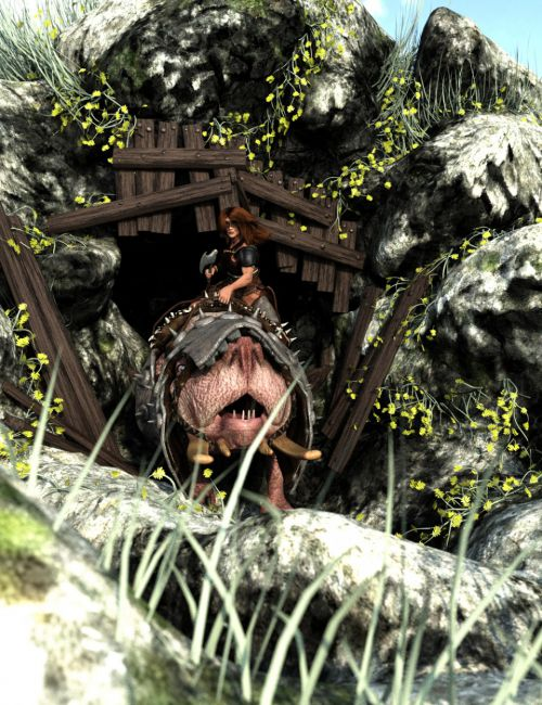 War Beast: Burrogen Cave Entry Scene Set