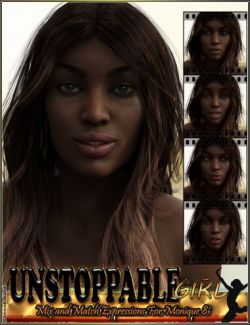 Unstoppable Girl Mix And Match Expressions For Monique 8 And Genesis 8 Female(s)