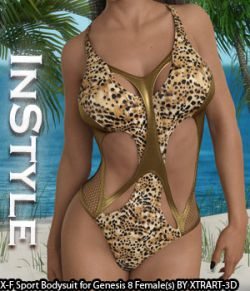 InStyle- X-Fashion Sport Bodysuit for Genesis 8 Females