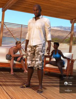 Boardwalk Casual Outfit for Genesis 8 Male(s)