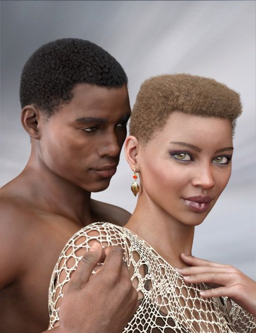 Short Afro Hair for Genesis 3 and 8
