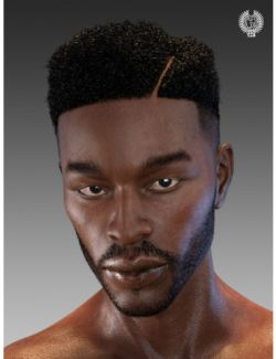 Top Fade Hair and Beard for Genesis 8 Male(s)
