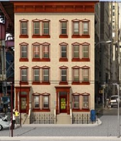 Brownstone Building Object