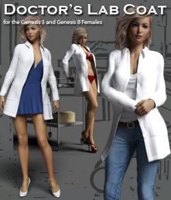 Doctor's Lab Coat for Gen 3 & Gen 8 Females