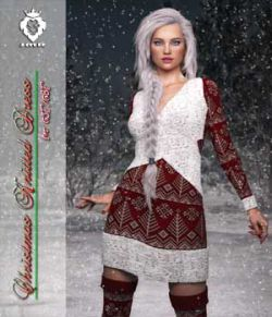 JMR Christmas Knitted Dress for G3F or G8F