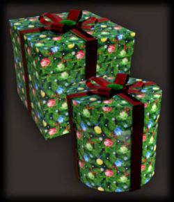 Morphing Round and Square Gift Boxes AddOn DS