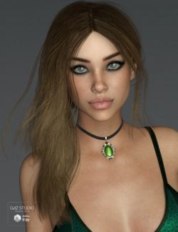 Vivacious Hair for Genesis 3 and 8 Female(s)