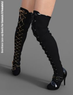 OverKnee Lace-Up Boots for Genesis 8 Female(s)