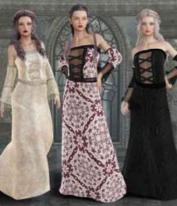Elainne Dress for Genesis 3 Female and Daz Studio