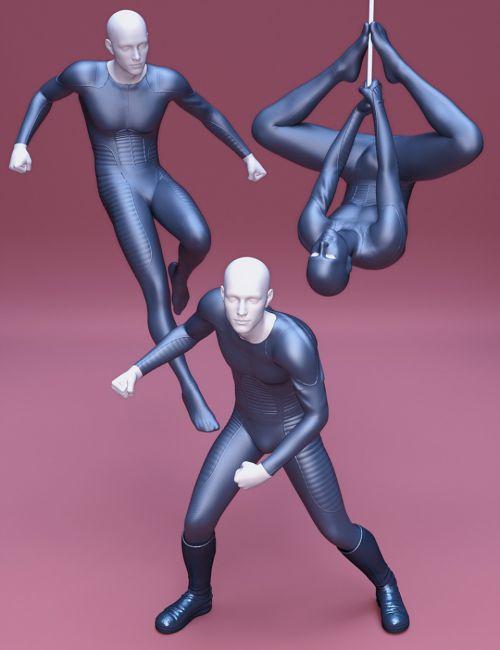 Superhero Poses for Genesis 8 Male