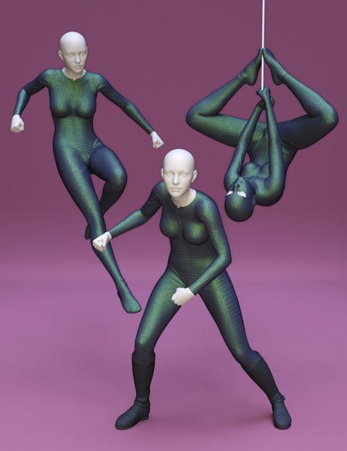 Superhero Poses for Genesis 8 Female