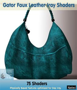Gator Faux Leather Iray Shaders- Merchant Resource