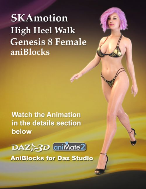 aniBlock High Heel Walk for Genesis 8 Female(s)