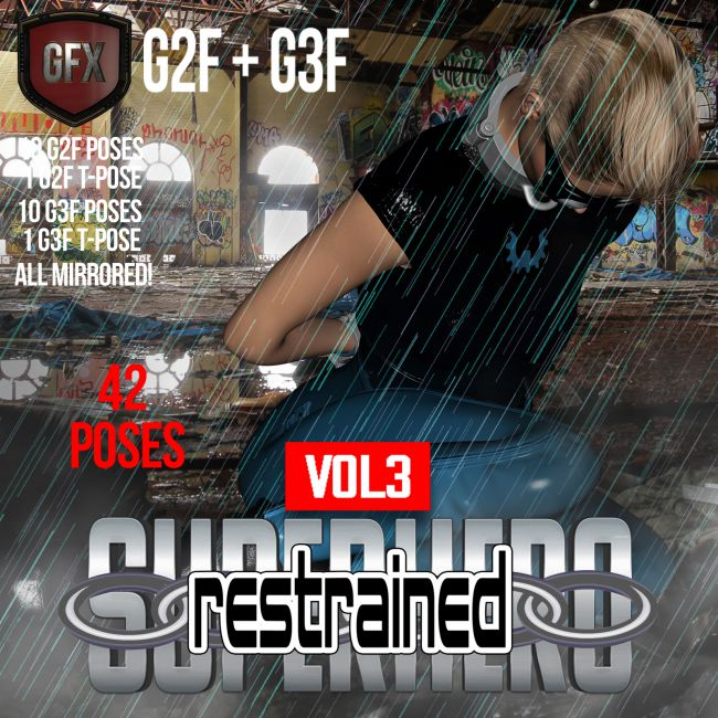 SuperHero Restrained for G2F and G3F Volume 3