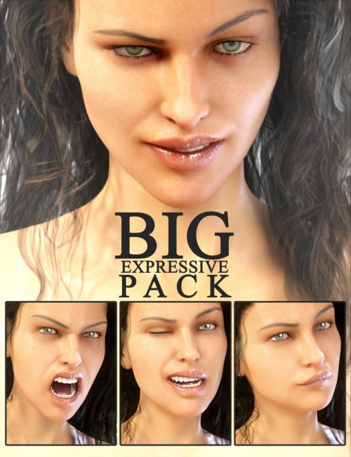 Big Expressive Pack for Genesis 8 Female