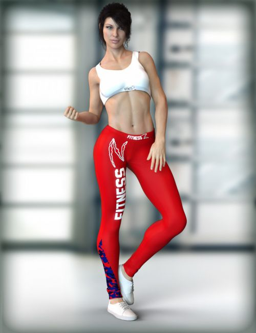 X-Fashion Activewear Outfit for Genesis 8 Female(s)