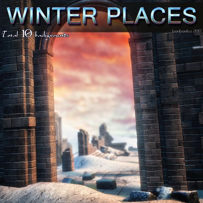 Winter Places - 2D Backgrounds