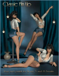 Classic Pin Up- Poses for Genesis 3 and 8 Female(s)