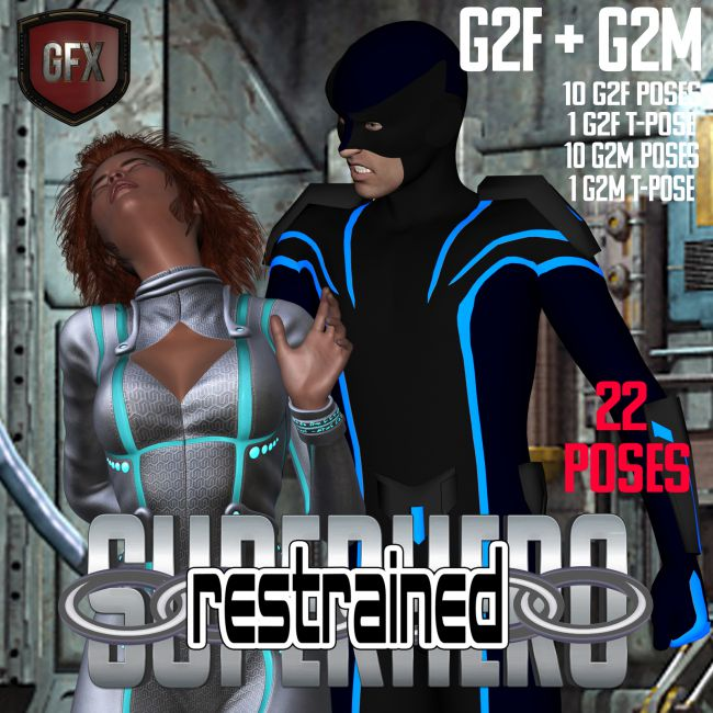 SuperHero Restrained for G2F and G2M Volume 1