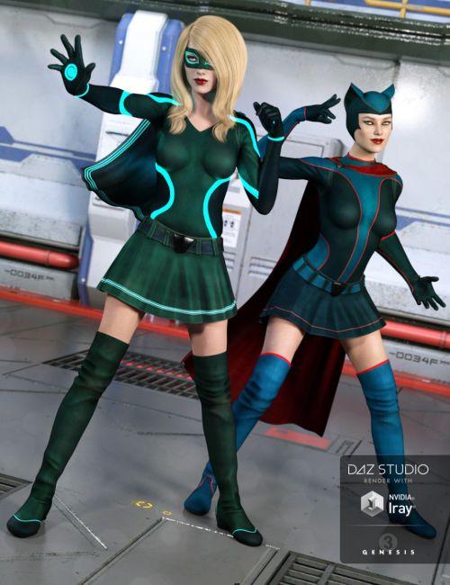 Superhero Add-On Planetary Orbit Textures for Genesis 3 Female(s)