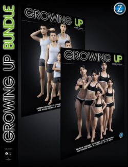 Growing Up Bundle for Genesis 8 Female(s) and Male(s)