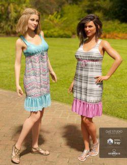 dForce Sleeveless Ruffle Dress Textures